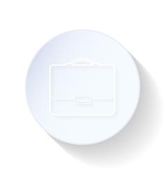 Briefcase thin lines icon vector image vector image
