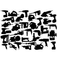 power tool silhouettes vector image