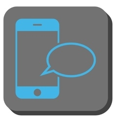 Smartphone message balloon rounded square button vector