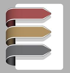 arrow ribbon signs vector image vector image