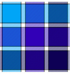 blue color check plaid seamless pattern vector image