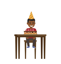 child birthday celebration flat vector image
