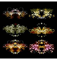 decorative element set vector image