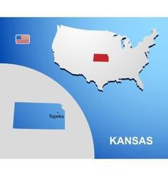 Kansas vector image