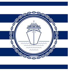sea emblem with a liner vector image