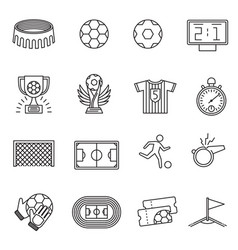 soccer competition line icons football vector image vector image