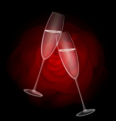 two champagne vector image