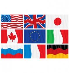 wavy flags vector image