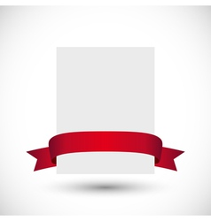 Card with red ribbon vector image