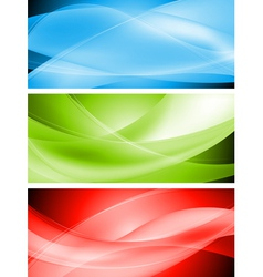 Colourful wavy banners vector image vector image
