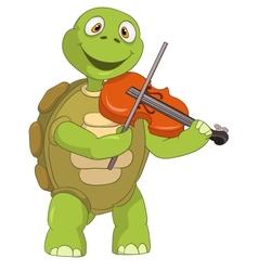 Funny Turtle Violinist vector image