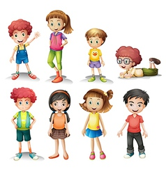 Group of kids vector
