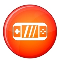 Portable video game console icon flat style vector image