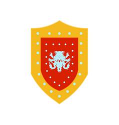 shield warrior logo spartan knight helmet armor vector image
