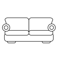 sofa comfor furniture thin line vector image