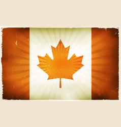 Vintage canada flag poster background vector