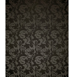 Wallpaper pattern black vector image