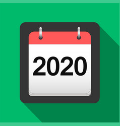 2020 calendar flat icon 2020 calendar cover sheet vector image