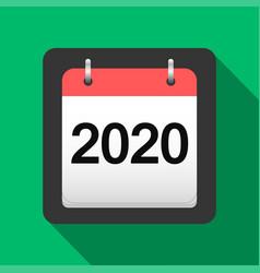 2020 calendar flat icon 2020 calendar cover sheet vector