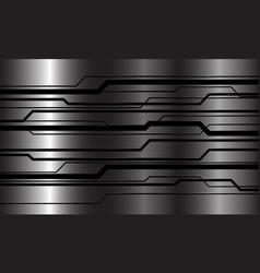 abstract black line cyber circuit geometric metal vector image