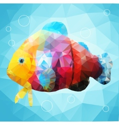 Abstract decorative fish vector image