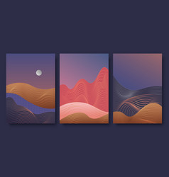 Abstract golde line contemporary aesthetic night vector
