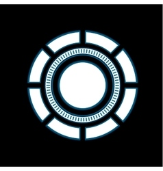 Abstract tech are round glowing sign vector