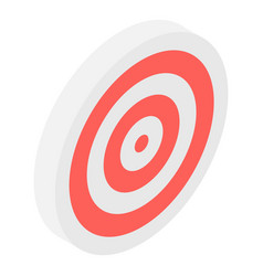 Archery target icon isometric style vector