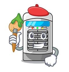 Artist mascot air cooler mounted on wall vector