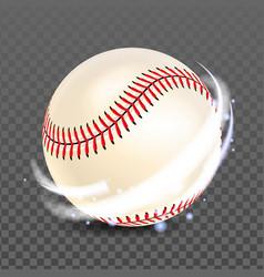 baseball ball for playing competitive game vector image