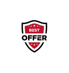 Best offer icon shield vector