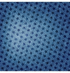 blue jean texture with stars background vector image