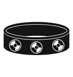 Bracelet with gems icon simple style vector