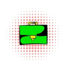 Briefcase comics icon vector image