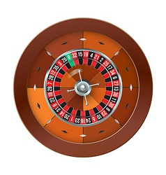 Casino Roulette isolated on white vector