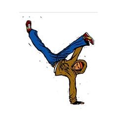 Close-up of man dancing vector