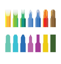 Color screw-drivers vector