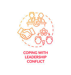 Coping with leadership conflict red gradient vector