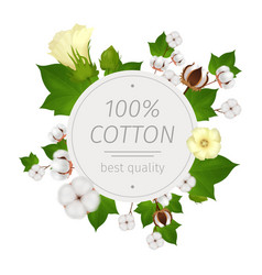 cotton realistic composition vector image
