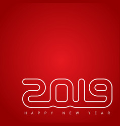 cover of calendar for 2019 happy new year 2019 vector image