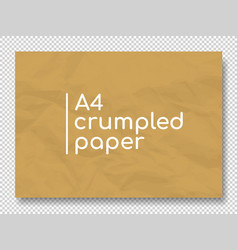 crumpled grunge realistic old paper vector image