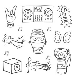 Doodle of music theme art vector