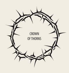 Easter banner with black crown of thorns vector