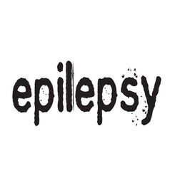 Epilepsy stamp typ vector