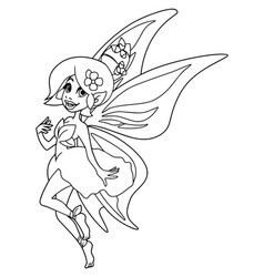 fairy line art vector image