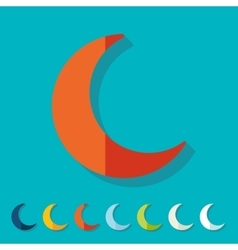 Flat design moon vector