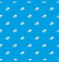 Foamy wave pattern seamless blue vector