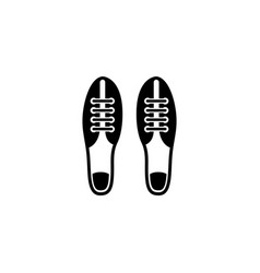 football soccer boots flat icon vector image