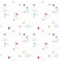 Fun summer beach hand drawn seamless pattern vector