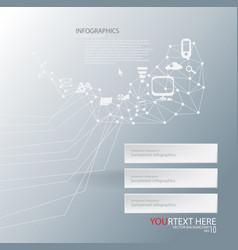 geometric technology vector image